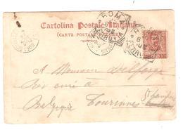 AP2207/ CP Italienne Roma Villa Borghese 1902 V.Tourines St.Lambert C.d'arrivée Grandlez-Thorembais AMBT BXL-Anvers 1 - Marcophilie