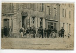44 SAVENAY Carte RARE Les Facteurs Et Leurs Bicyclettes Le Bureau Des Postes Et Télégraphes 1909 Timb    D07 2019 - Savenay