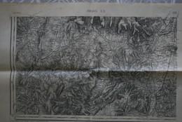 Carte 1/ 80000 Inst Géo Armée Tirage 1928 PRIVAS SO (dont Viviers, Montélimar, Alba, Voguë, Mirabel, Lavilledieu - Cartes Topographiques
