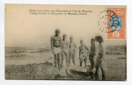 97 ILe De MOPEHIA Carte RARE  TUAMOTU Peche à La Tortue  1926 Timbrée Papeete Tahiti       D07 2019 - Polynésie Française