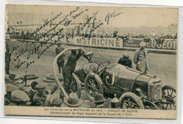 AUTOMOBILE Course  Circuit De Dieppe 1912 Publicité Motricine Ravitaillement Auto   D07 2019 - Cartes Postales