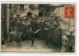 ESCRIME L Marins Sur Le Pont Du Bateau Une Joute La Vie à Bord No 2313  écrite De Brest En 1909   D07 2019 - Escrime