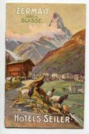 SUISSE ZERMAT Livret 12 Pages Sur Les HOTELS De La Ville 1910      D07 2019 - VS Valais