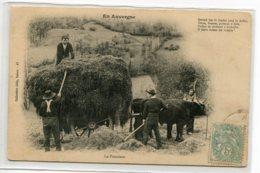 15 EN AUVEGNE No 47 Coll Gely Salers - Paysans La Fenaison Agriculture Charette Fopin Boeufs   1905  D07 2019 - Non Classés