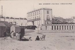 CPA QUIBERON PORT MARIA L' HOTEL DE LA PLAGE - Locmariaquer