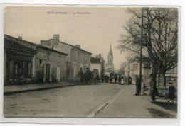 33 IZON Carte RARE La Grand'Rue Diligence Anim Commerce  1910  D07 2019 - Other Municipalities