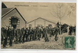 51 STE SAINTE MENEHOULD Carte RARE Militaires Cuirassiers écrite 1909 Edit Moisson 1er Escadron Rassemblement   D07 2019 - Sainte-Menehould