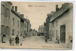 51 BEINE NAUROY Cycliste Et Animation Rue Asson La  Rue  Edit Schaafs  écrite 1905 Timb   D07 2019 - France