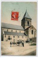 51 BEINE NAUROY Attelage Cariole Ane Petits Ecoliers Pace De L'Eglise 1908 écrite Timb  D07 2019 - France