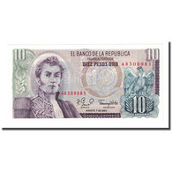 Billet, Colombie, 10 Pesos Oro, 1980-08-07, KM:407g, NEUF - Colombia