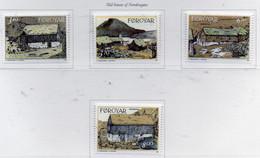 PIA  -  FAROER  -  1992  : Abitazioni Tipiche Del Vecchio Quartiere Di Northragota  -  (Yv 233-36) - Isole Faroer