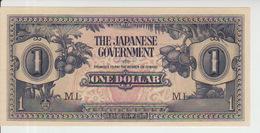 Malaya 1 Dollar (1942) Pick M5b AUNC - Malaysia