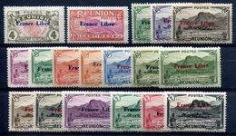 Réunion - Surcharge France Libre - 19 Valeurs Entre Yvert 187 & 205 - Neufs Avec Trace De Charnière - T 870 - La Isla De La Reunion (1852-1975)