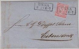 NDP - Unna Ra2 1 Gr. Gez. Brief N. Eibenstock 1870 - Mit Inhalt - Norddeutscher Postbezirk