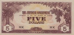 Malaya 5 Dollars (1942) Pick M6c AUNC - Malaysia