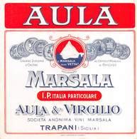 "D9265 "" AULA - MARSALA - AULA & VIRGIGLIO - TRAPANI "".  ETICHETTA ORIG. - Etichette"