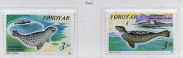 PIA  -  FAROER -  1992  : Fauna Marina - Foche -  (Yv 231-32) - Isole Faroer