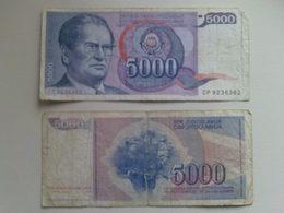 Yugoslavia 5000 Dinar Banknote Date 1985 - Yugoslavia