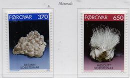 PIA  -  FAROER -  1992  : Minerali -  (Yv 229-30) - Isole Faroer
