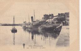 SAINT MALO :  Bateaux De Jersey Amarrés Au Quai - - Saint Malo