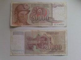 Yugoslavia  20000 Dinar Banknote Date 1987 - Yugoslavia