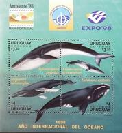 Uruguay  1998 Whales S/S - Uruguay