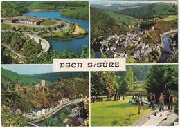 MINI GOLF / MIDGET GOLF - Esch-sur-Sure - Barrage Et Lac, Chateau, Panorama, Minigolf - (Luxembourg) - Postkaarten