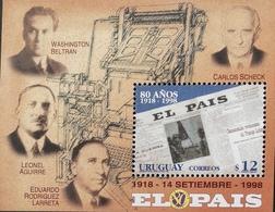 Uruguay  1998 ElPais Newspaper, 80th. Anniv. - Uruguay