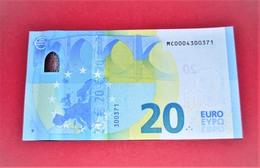 LOW NUMBER 20 EURO PORTUGAL M001E6 - M001 E6 - MC0004300371 - NEUF - UNC - EURO