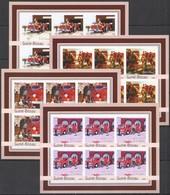 XX662 IMPERFORATE 2003 GUINEA-BISSAU TRANSPORT BRIGADE FIRE TRUCKS !!! 6SET MNH - Camions