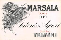 """D9271 """"  MARSALA  - ANTONIO AGUECI - ITALIA (IP)"""".  ETICHETTA ORIG. - Labels"""