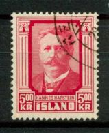 Islanda 1954 SG 327 Usato 100% Hannes Hafstein - 1944-... Repubblica