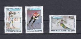 Sierra Leone 1992 Olympic Games Albertville 3 Stamps MNH/** (H50) - Hiver 1992: Albertville