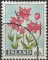 ICELAND 1958 Flowers - 1k  River Beauty FU - Usati