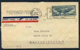 Stati Uniti 1941 Mi. 450 Busta 100% Transatlantic Clipper - Stati Uniti
