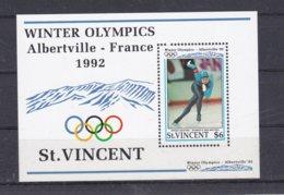 St. Vincent 1992 Olympic Games Albertville Souvenir Sheet MNH/** (H50) - Hiver 1992: Albertville