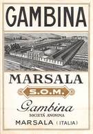 """D9274 """"  CAMBINA - MARSALA S.O.M.- GABINA SOCIETA ANONIMA"""".  ETICHETTA ORIG. - Labels"""