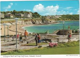 MINI GOLF / MIDGET GOLF - Gyllynvase Beach And Crazy Golf Course, Falmouth, Cornwall - (England) - John Hinde - Postkaarten
