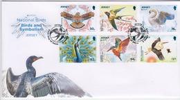 Jersey 2019 - Europa National Birds Set Of 6 - FDC - Jersey