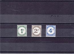 GIBRALTAR 1956 TAXE Yvert 1-3 NEUF** MNH Cote : 16 Euros - Gibraltar