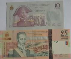Billets D'Haîti De 10 Et 25 Gourdes 2004 Neufs/UNC Pick 272 Et 273 - Haiti