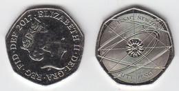 UK 50p Coin 2018 Isaac Newton - Uncirculated UNC - 50 Pence