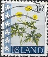 ICELAND 1960 Wild Flowers - 3k.50 - Buttercup FU - Oblitérés