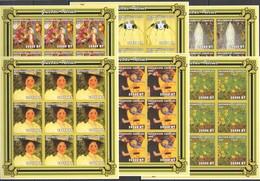 YY070 IMPERFORATE 2001 MOZAMBIQUE ART PAINTINGS GUSTAV KLIMT !!! 9SET MNH - Art