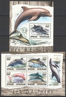 TT1354 2016 CENTRAL AFRICA FAUNA MARINE LIFE DOLPHINS LES DAUPHINS KB+BL MNH - Dauphins