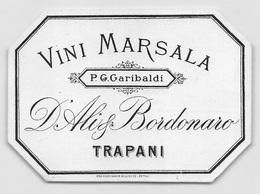 """D9276 """" VINI  MARSALA  - P.G. GARIBALDI  - D ALI & BORDONARO - TRAPANI"""".  ETICHETTA ORIG. - Etichette"""
