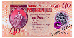 IRELAND NORTHERN BANK OF IRELAND 10 POUNDS 2018 Pick New Unc - Irlanda