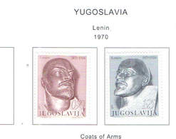 Jugoslavia PO 1970 Lenin    Scott 1021+1022.+See Scan On Scott.Page; - 1945-1992 Repubblica Socialista Federale Di Jugoslavia