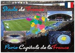 Football - Stade De France - Paris Capitale De La France - 4 Vues + Carte Géo - Cpm - Vierge - - Soccer