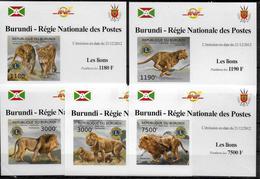 BURUNDI Epreuve Luxe N° 1702/05  BF 265 * *    NON DENTELE   Lions - Francobolli